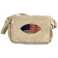 Ichthus - American Flag Messenger Bag