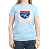 Interstate 495 - NY Women's Pink T-Shirt