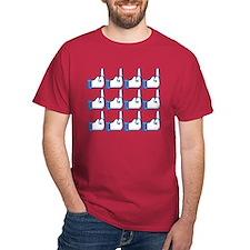 Offensive Facebook Button Shirt T-Shirt