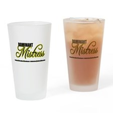Dominant Mistress Title Drinking Glass