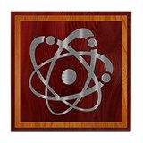 Chromium Atom Tile Coaster