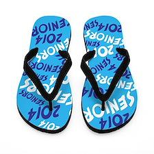 Blue Senior Class OF 2014 Flip Flops