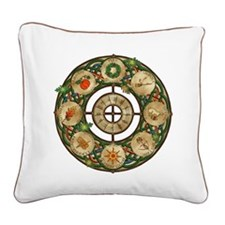 Celtic Wheel of the Year Square Canvas Pillow