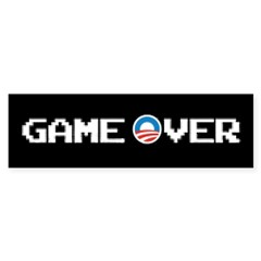 Game Over with Obama sticker
