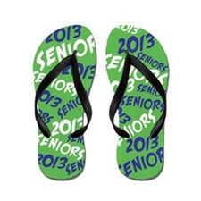 Blue and Green Senior Class OF 2013 Flip Flops