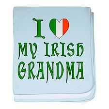 I Love My Irish Grandma baby blanket