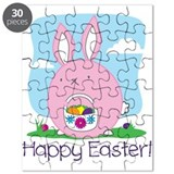 Happy Easter! Bunny Hiding Eggs Puzzle
