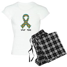 Personalized Autism Puzzle Ribbon Pajamas