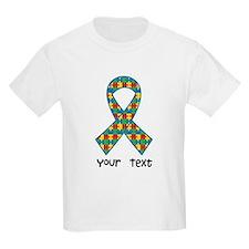 Personalized Autism Puzzle Ribbon T-Shirt