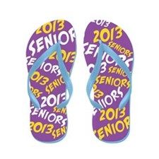 Purple Gold Yellow Senior Class OF 2013 Flip Flops