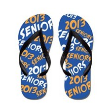 Orange and Blue Senior Class OF 2013 Flip Flops