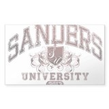 Sanders Last Name University Class of 2013 Decal