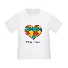 Personalized Autism Puzzle Heart T