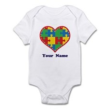Personalized Autism Puzzle Heart Infant Bodysuit