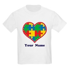 Personalized Autism Puzzle Heart T-Shirt