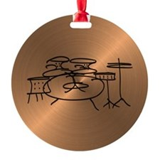 Unique Music Round Ornament