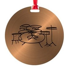 Unique Drummer Round Ornament
