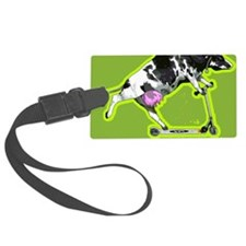 Cow on push scooter Luggage Tag