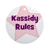 Kassidy Rules Ornament (Round)