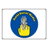 Anti Social Media Finger Banner