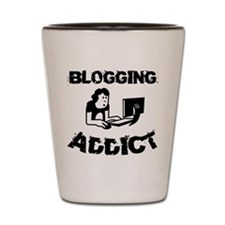 Blogging Addict Shot Glass