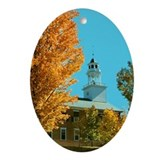 Weathersfield Center Church Oval Ornament