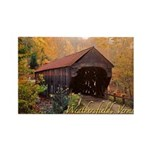 Covered Bridge Rectangle Magnet