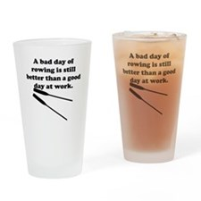 A Bad Day Of Rowing Drinking Glass