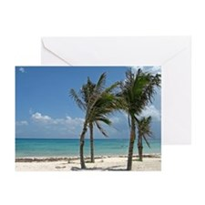 Beach and palm Greeting Cards (Pk of 20)
