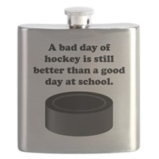 A Bad Day Of Hockey Flask