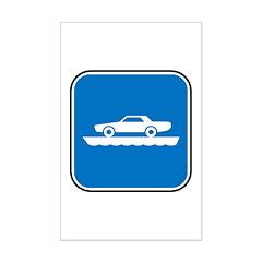 Ferry Ahead Mini Poster Print