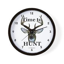 Cute Deer hunter Wall Clock