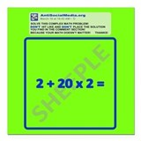 Anti Social Media Math Problem Square Car Magnet 3