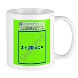 Anti Social Media Math Problem Coffee Mug