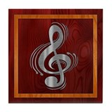 Clef Woodsteel Tile Coaster