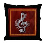 Clef Woodsteel Throw Pillow