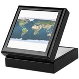 World Map Keepsake Box