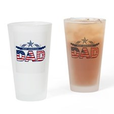 Father's Day Best American Dad Drinking Glass