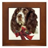 Unique Springer spaniel christmas Framed Tile