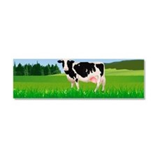 A cow in the field, illustration Car Magnet 10 x 3