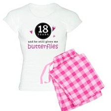 18th Anniversary Butterflies Pajamas