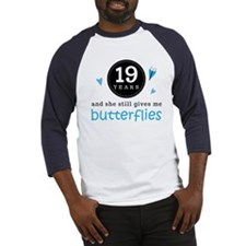 19 Year Anniversary Butterfly Baseball Jersey