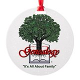 It's All About Family Round Ornament