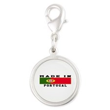 Portugal Made In Silver Round Charm
