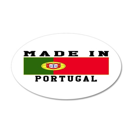 Portugal Made In 35x21 Oval Wall Decal