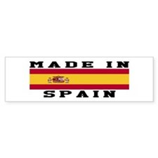 Spain Made In Bumper Sticker