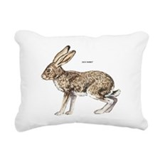 Jack Rabbit Rectangular Canvas Pillow
