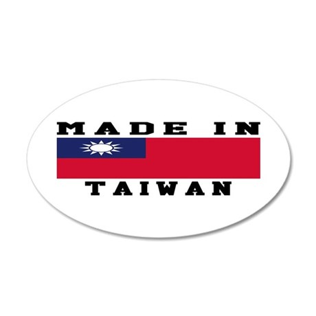 Taiwan Made In 35x21 Oval Wall Decal