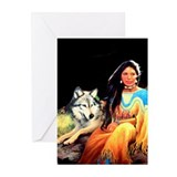 Wolfgirl Greeting Cards (Pk of 10)