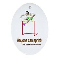 Anyone Can Sprint 2 Ceramic Ornament